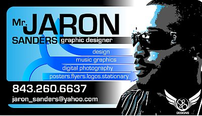 Sanders- graphic designer business card