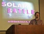Man with Solar Battle Powerpoint