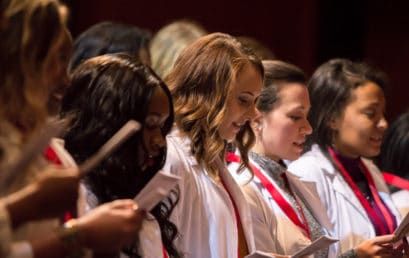 FMU Nursing students gather for ceremony