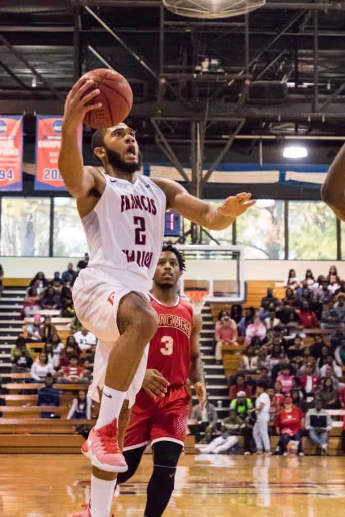 Detrek Browning shooting a basketball