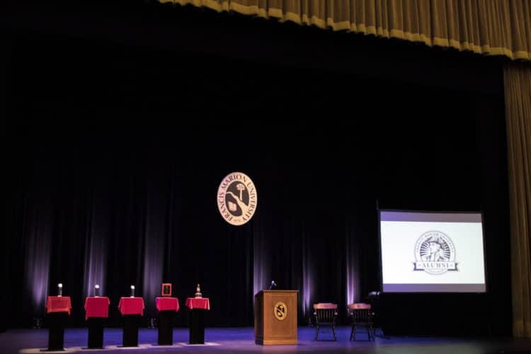 Stage setup for FMU alumni awards