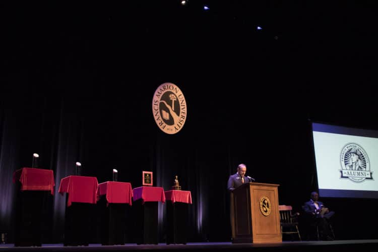 Speaker at FMU alumni awards
