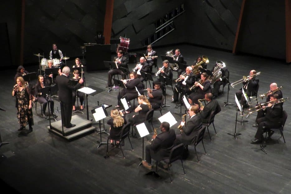 A Concert Band performs on the 13th of March, 2018