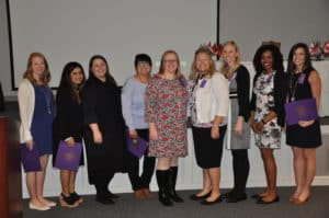 Several STTI nurse inductees posed for a picture