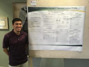 Jaimes posed with his research board