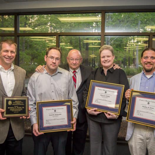 Four FMU professors honored for teaching, service, research, governance