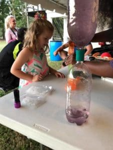 Children learning science experiments