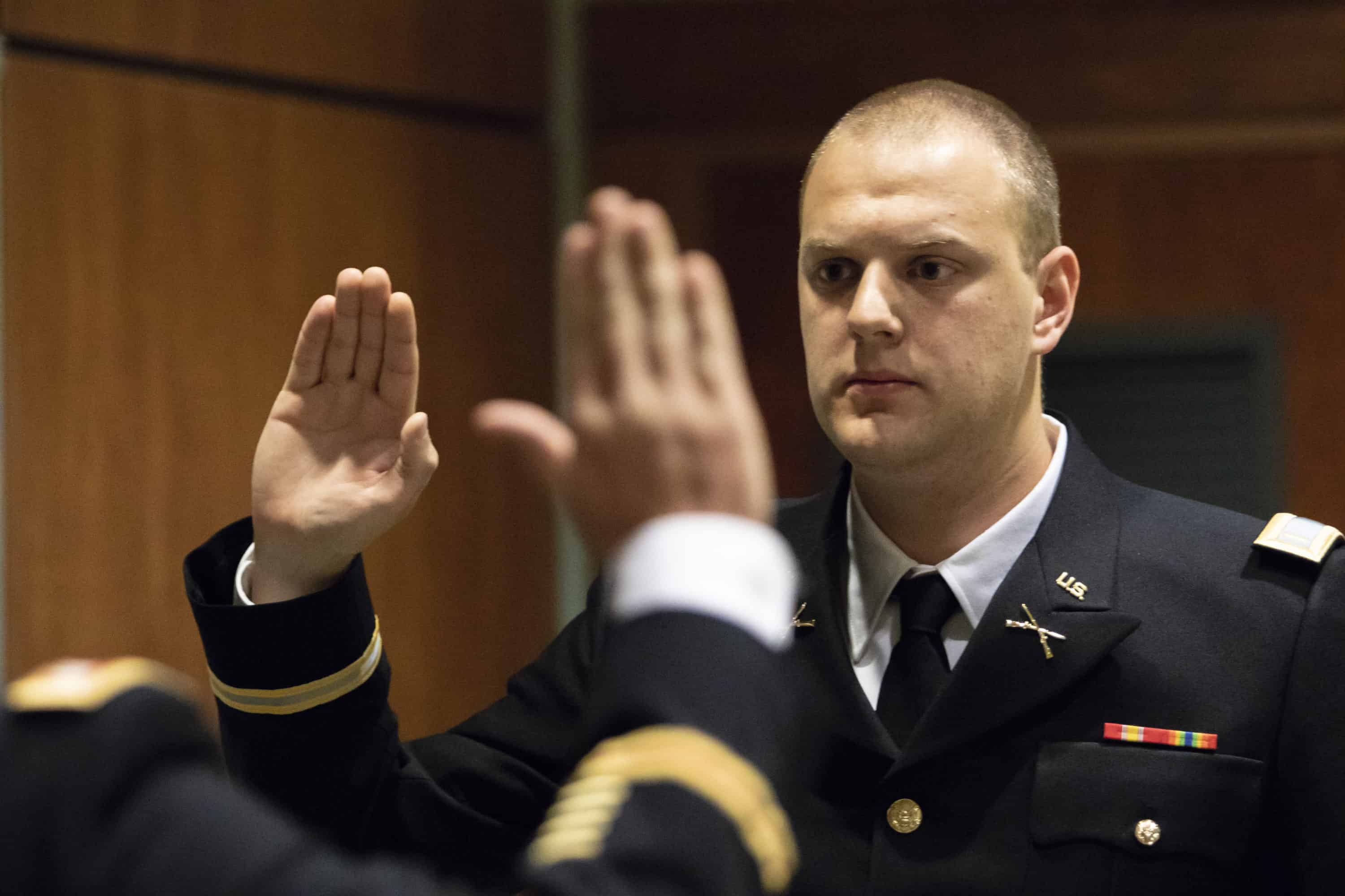 Son follows in father's footsteps to be commissioned as officer at FMU