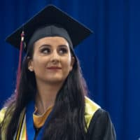 Melina Much at commencement
