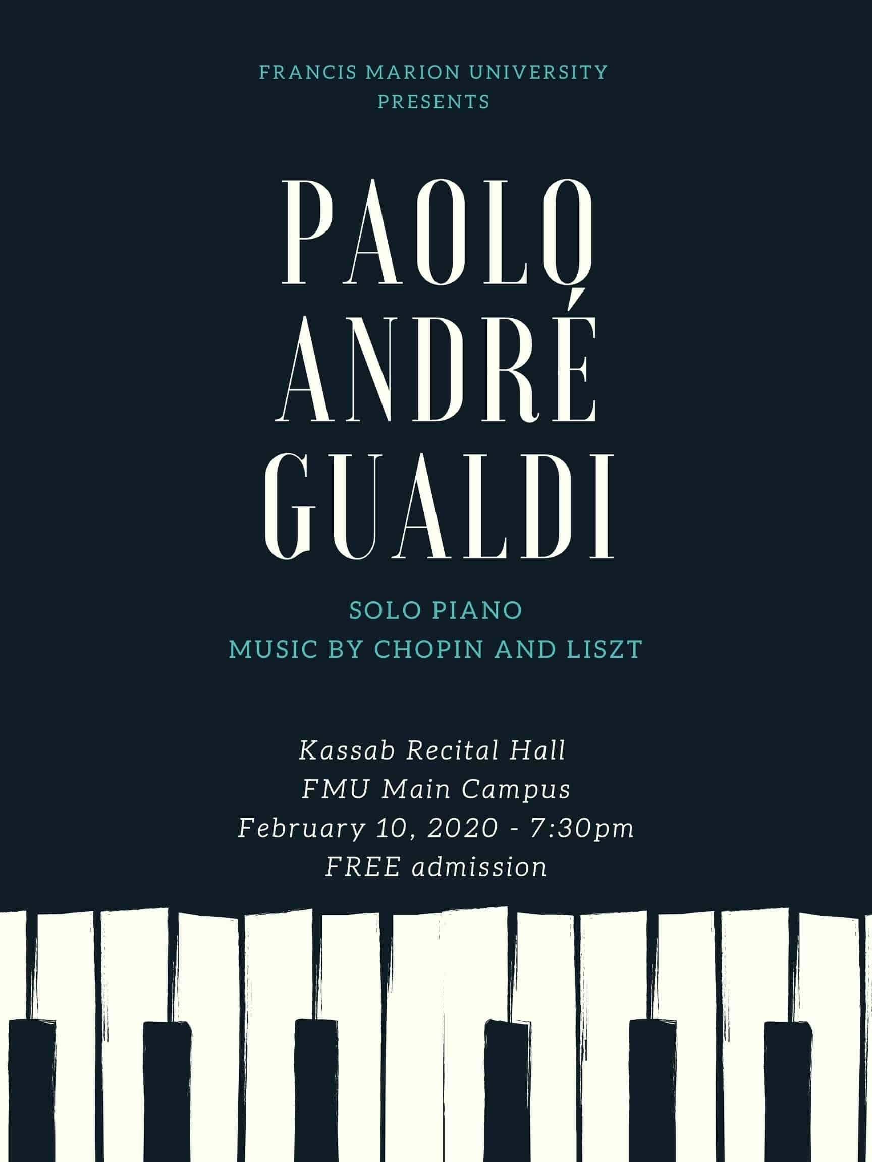 Fine Arts – Paolo Gualdi plays Chopin and Liszt