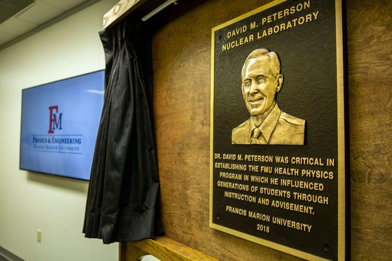 FMU dedicates David M. Peterson nuclear lab