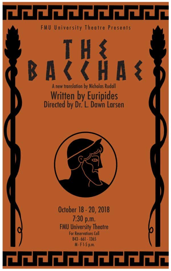 University Theatre The Bacchae Poster