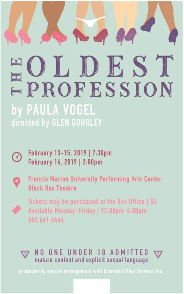 Fine Arts – University Theatre – Paula Vogel's The Oldest Profession Glen Gourley, director