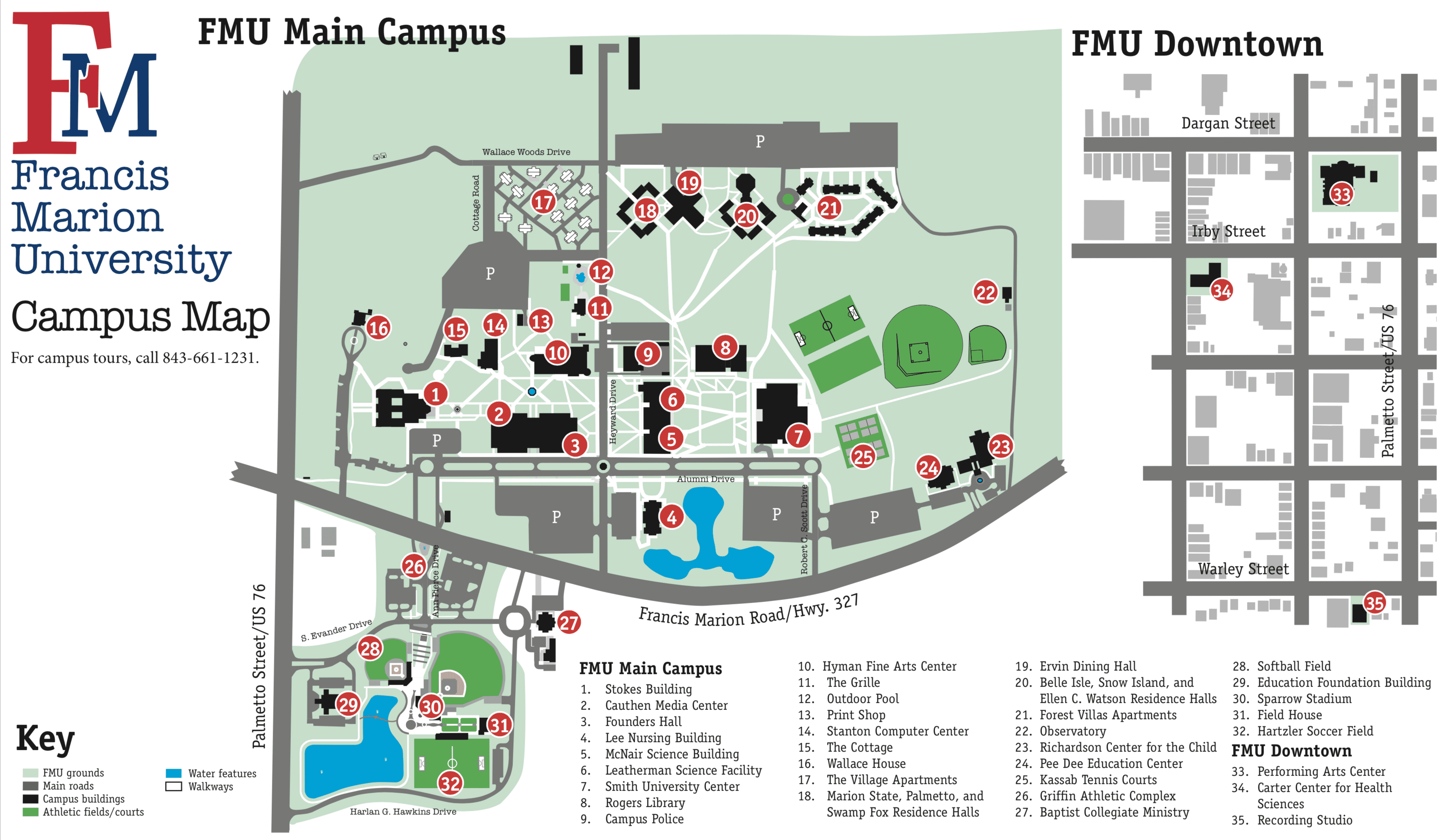 Graphic Design on the FMU Campus Map in 2019
