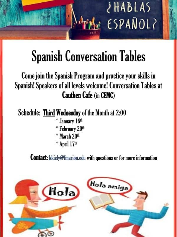 Spanish Conversation Tables