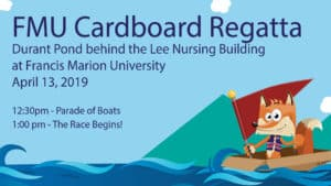 FMU Cardboard Regatta @ Durant Pond, Lee Nursing Building