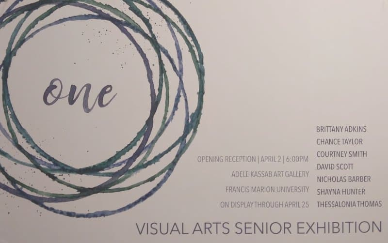 Gallery Series: Senior Shows by Graduating FMU Visual Arts Majors and Works by Ceramics and 3-D Design Classes