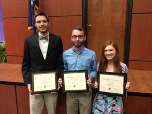 Department of Mathematics recognizes outstanding math students with 2019 math award