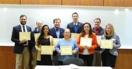 Math Honor Society Kappa Mu Epsilon inducts new members