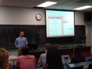 Math student presents research