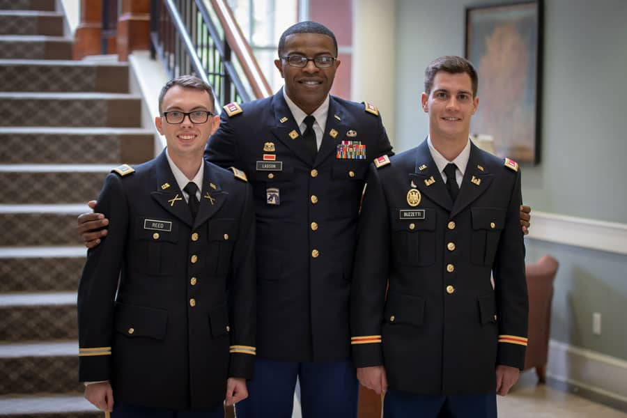 Two Francis Marion University ROTC officers commissioned