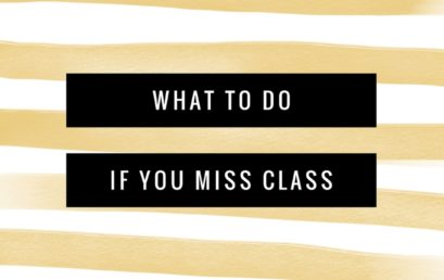 What To Do If You Miss Class