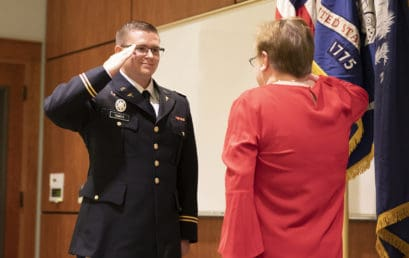 Medicine and military combine for two new officers, FMU grads