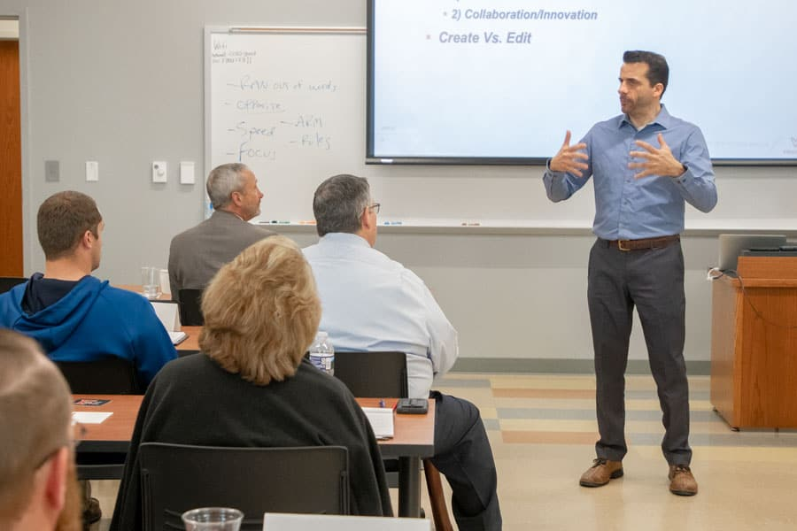 School of Business' executive program nearly full for spring semester