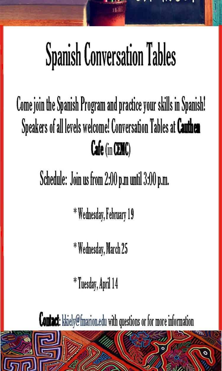 Spanish Conversation Tables Spring20