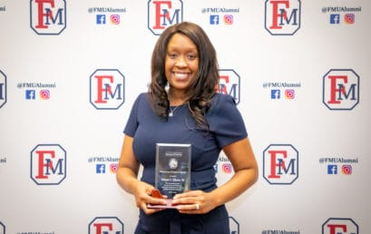 Clinical psychologist alum honored by FMU's Department of Psychology