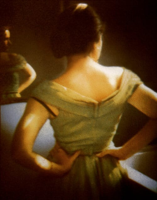 Art Gallery (c) Diana Bloomfield Girl in Mirror 2013 Tricolor gum bichromate print