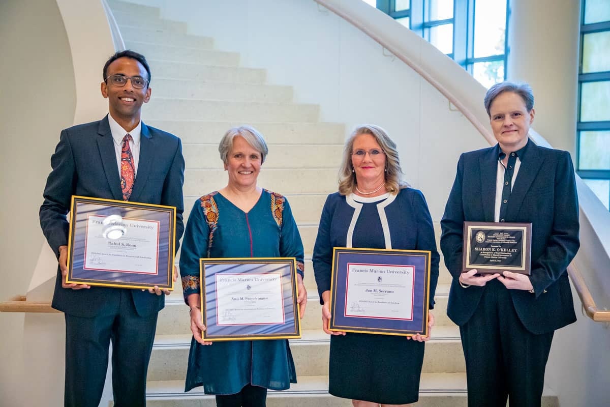 FMU professors honored for research, teaching, service, governance