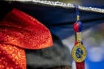 A close-up of a graduation cap.