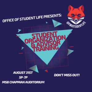 Student Organization Training @ MSB Chapman Auditorium