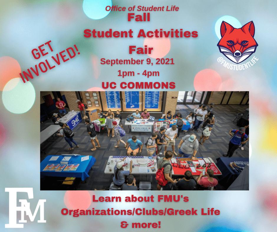 2021 Fall Student Activities Fair
