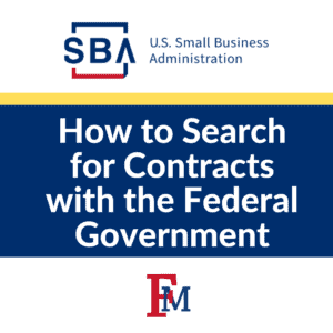 How to Search for Contracts with the Federal Government @ Online Event