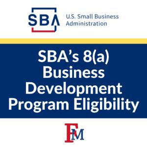 SBA's 8(a) Business Development Program Eligibility @ Online Event